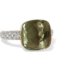 Pomellato - Nudo 18-karat Rose And White Gold, Prasiolite And Diamond Ring - Lyst
