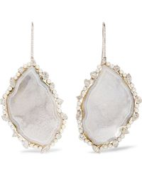 Kimberly Mcdonald - 18-karat White Gold Multi-stone Earrings - Lyst