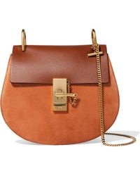 Chloé - Drew Small Leather And Suede Shoulder Bag - Lyst