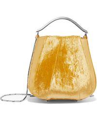 Eddie Borgo - Pepper Velvet And Leather Bucket Bag - Lyst
