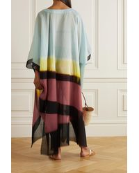Dries Van Noten Cartland Striped Cotton-voile Kaftan - Brown