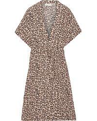 Fleur du Mal - Leopard-print Silk-satin Robe - Lyst