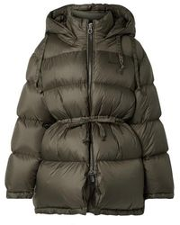 Acne Studios Oversized Hooded Quilted Shell Down Jacket - Green