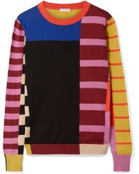 Tomas Maier - Patchwork Cotton Sweater - Lyst