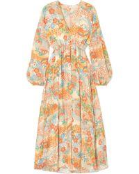 Elizabeth and James - Norma Printed Silk Maxi Dress - Lyst