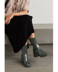 Chloé Betty Logo-embossed Rubber Boots - Green