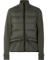 James Perse - Quilted Shell Down And Cotton-blend Jacket - Lyst