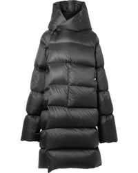 Rick Owens - Oversized Hooded Quilted Shell Down Coat - Lyst