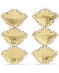 Amrapali - Karana Lotus 18-karat Gold Diamond Earrings - Lyst