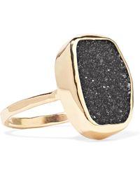 Melissa Joy Manning - 14-karat Gold Druzy Ring Gold 7 - Lyst