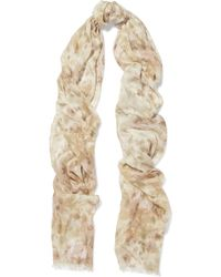 Aerin - Printed Modal And Silk-blend Scarf - Lyst