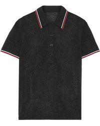Alexander Wang - Metallic Stretch-knit Polo Shirt - Lyst