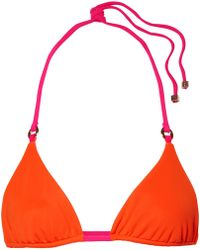 F E L L A. - Carlo Reversible Triangle Bikini Top - Lyst