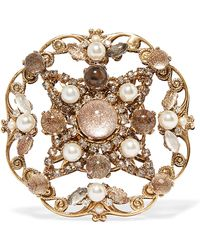 Erickson Beamon | Accidental Tourist Gold-plated Multi-stone Brooch | Lyst