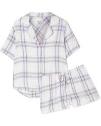 Rails Checked Flannel Pajama Set - Blue