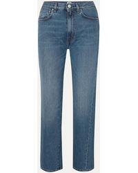 Totême Cropped Mid-rise Straight-leg Jeans - Blue