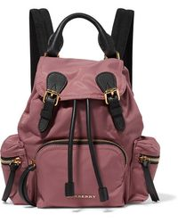 Burberry Prorsum - Small Textured Leather-trimmed Gabardine Backpack - Lyst