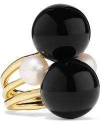 Ippolita - Nova 18-karat Gold, Onyx And Pearl Ring - Lyst