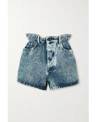Miu Miu High-rise Denim Shorts - Blue