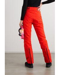 Kjus Evolve Padded Ski Trousers - Red