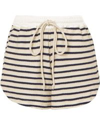 Bassike - Striped Cotton-canvas Shorts - Lyst