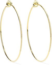 Ippolita - Glamazon Stardust 18-karat Gold Diamond Hoop Earrings Gold One Size - Lyst