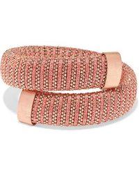 Carolina Bucci Caro Rose Gold-plated, Cotton And Lurex Bracelet - Multicolour