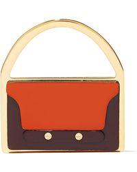 Marni - Gold-tone Leather Brooch - Lyst