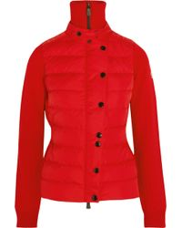 Moncler Grenoble - Quilted Down And Wool-blend Ski Jacket - Lyst