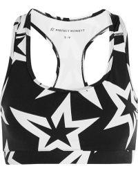 Perfect Moment - Starlight Printed Stretch-jersey Sports Bra - Lyst