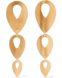 Chan Luu Gold-plated Earrings - Metallic