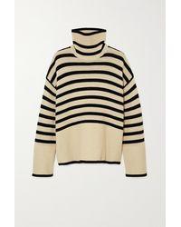 Totême Striped Merino Wool Turtleneck Jumper - Multicolour