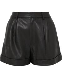 Alice + Olivia - Conry Leather Shorts - Lyst