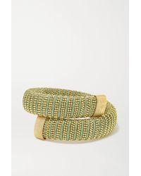 Carolina Bucci Caro Gold-plated And Lurex Bracelet - Metallic