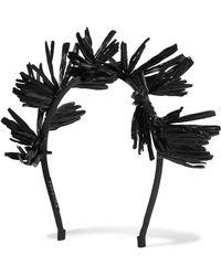 Yunotme - Ziggy Fringed Raffia Headband - Lyst