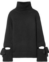 Oscar de la Renta - Cutout Turtleneck Sweater - Lyst