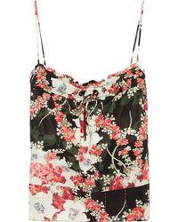Rag & Bone - Lizzie Floral-print Satin-twill Camisole - Lyst