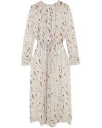 Étoile Isabel Marant - Baphir Pleated Printed Silk-crepon Dress - Lyst