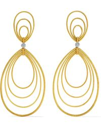 Buccellati - Hawaii Waikiki 18-karat Yellow And White Gold Earrings - Lyst