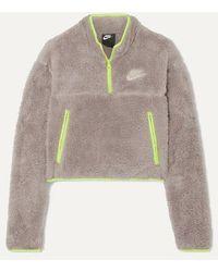 Nike Sweatshirt Aus Fleece Mit Einsatz Aus Shell - Mehrfarbig