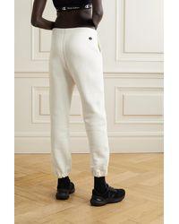 Nili Lotan + Champion Printed Cotton-jersey Track Trousers - White