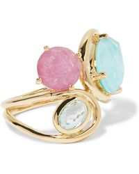 Ippolita - Rock Candy Squiggle 18-karat Gold Multi-stone Ring - Lyst