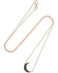 Andrea Fohrman - Luna 18-karat Rose Gold Diamond Necklace Rose Gold One Size - Lyst