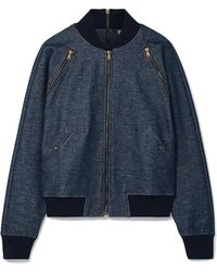 Tomas Maier - Zip-detailed Stretch-cotton Bomber Jacket - Lyst
