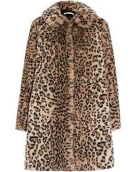 Alice + Olivia - Kinsley Oversized Leopard-print Faux Fur Coat - Lyst