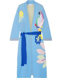 Mira Mikati - Appliquéd Cotton-jacquard Robe - Lyst