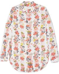 Equipment | Essential Floral-print Washed-silk Shirt | Lyst