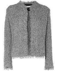 IRO - Shavani Frayed Cotton-blend Bouclé Jacket - Lyst