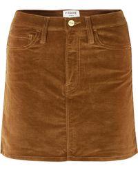 FRAME - Le Mini Stretch Cotton-blend Corduroy Mini Skirt - Lyst