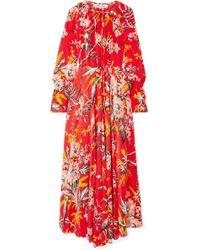 Diane von Furstenberg - Bethany Floral-print Silk Crepe De Chine Maxi Dress - Lyst
